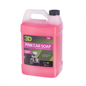 pink car soap gallon